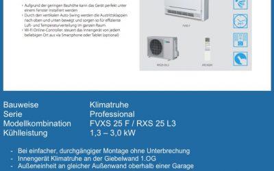 WINTERPAKET 1 – DAIKIN FVXS 25 F / RXS 25 L3 – das professionelle Kraftpaket