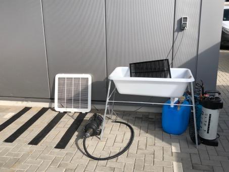 Unsere mobile Hygienestation